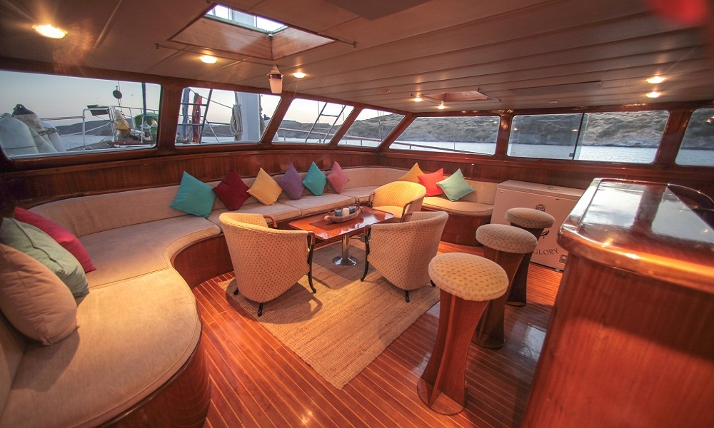 living area of boat