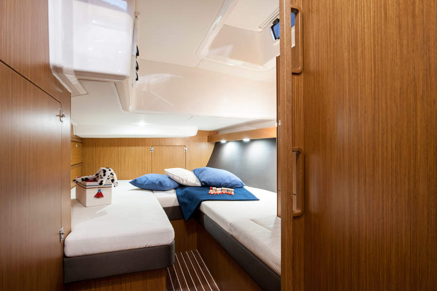 bedroom of boat