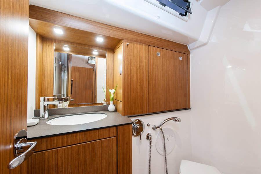 bathroom of boat