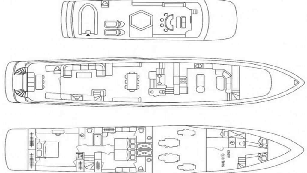 INSATIABLE floor plan of boat
